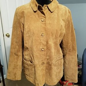 EUC Women's Leather Suede jacket L